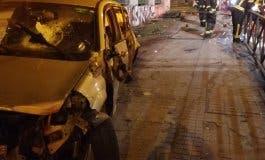 Cinco jóvenes heridos en un aparatoso accidente en la A-5