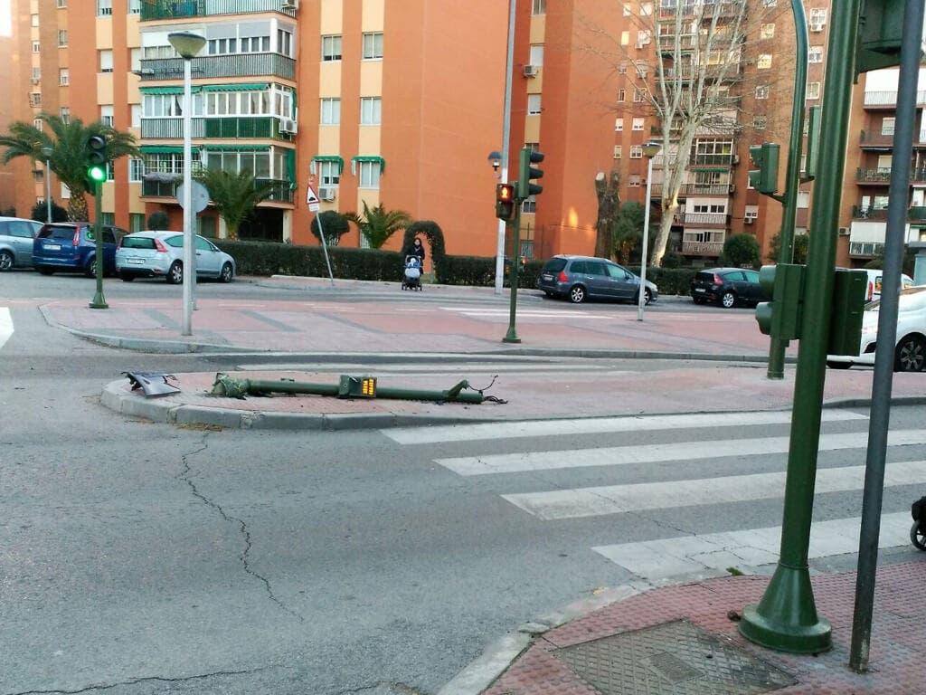 Nuevo accidente en un «peligroso» tramo del Paseo Pastrana de Alcalá