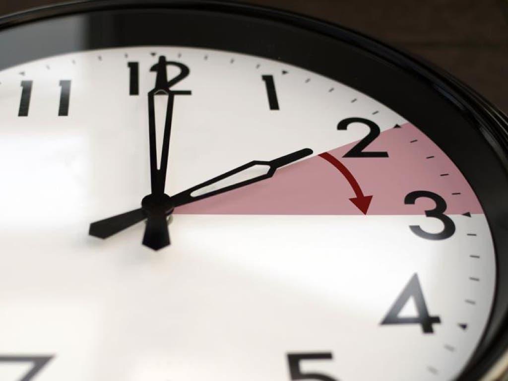 Esta madrugada, cambio de hora con una hora menos para dormir