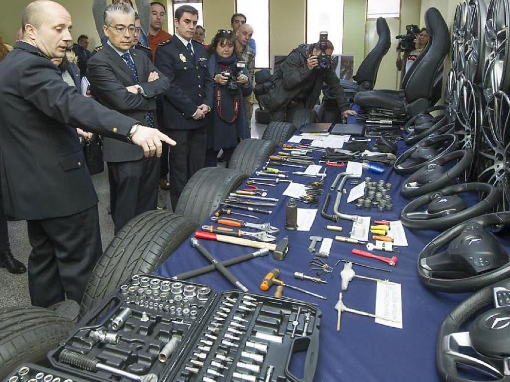 Desarticulado un grupo que robaba en garajes piezas de vehículos de alta gama