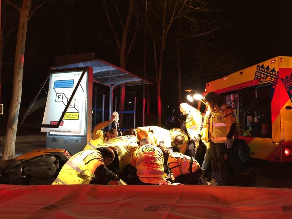 Muy grave un motorista tras sufrir un accidente en Madrid