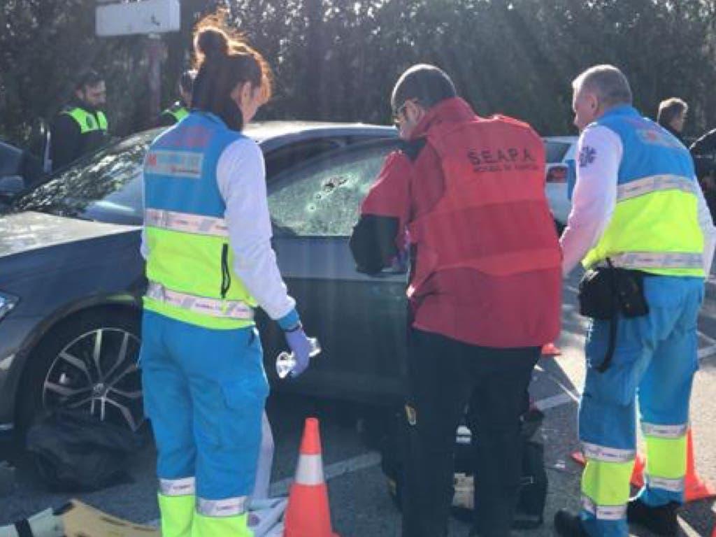 Muere un hombre tiroteado en el interior de su coche en Madrid