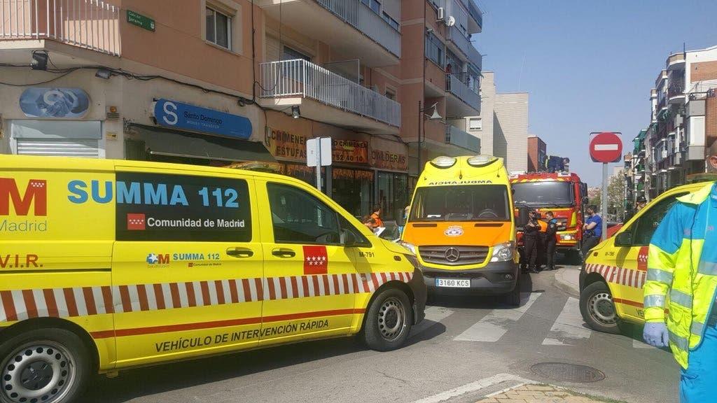 Muy grave un hombre al caer desde un primer piso en Alcobendas