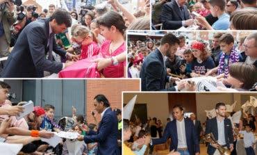 Keylor Navas, Nacho, Florentino, Raúl y Sanchís en Alcalá de Henares