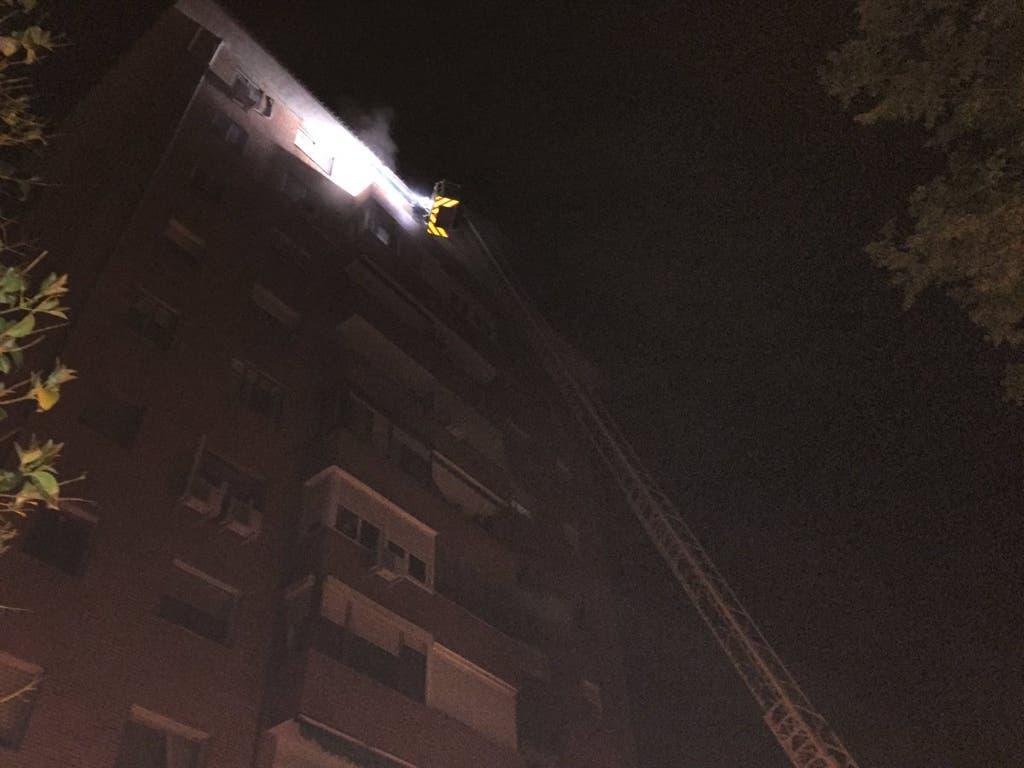 Un incendio en Canillejas deja a una persona en estado crítico