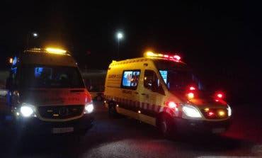 Tres heridos en un accidente de tráfico en la carretera de Loeches a Torrejón