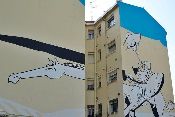 Nuevos murales cervantinos en Alcalá de Henares