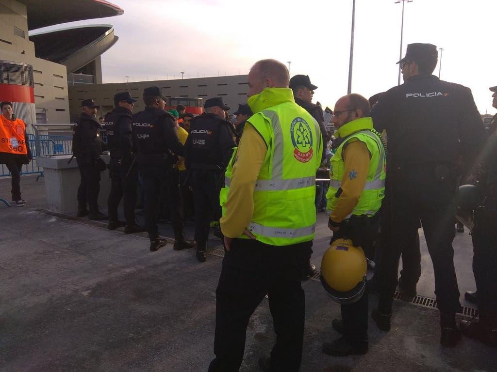 Cinco heridos y dos detenidos tras una pelea en el Wanda