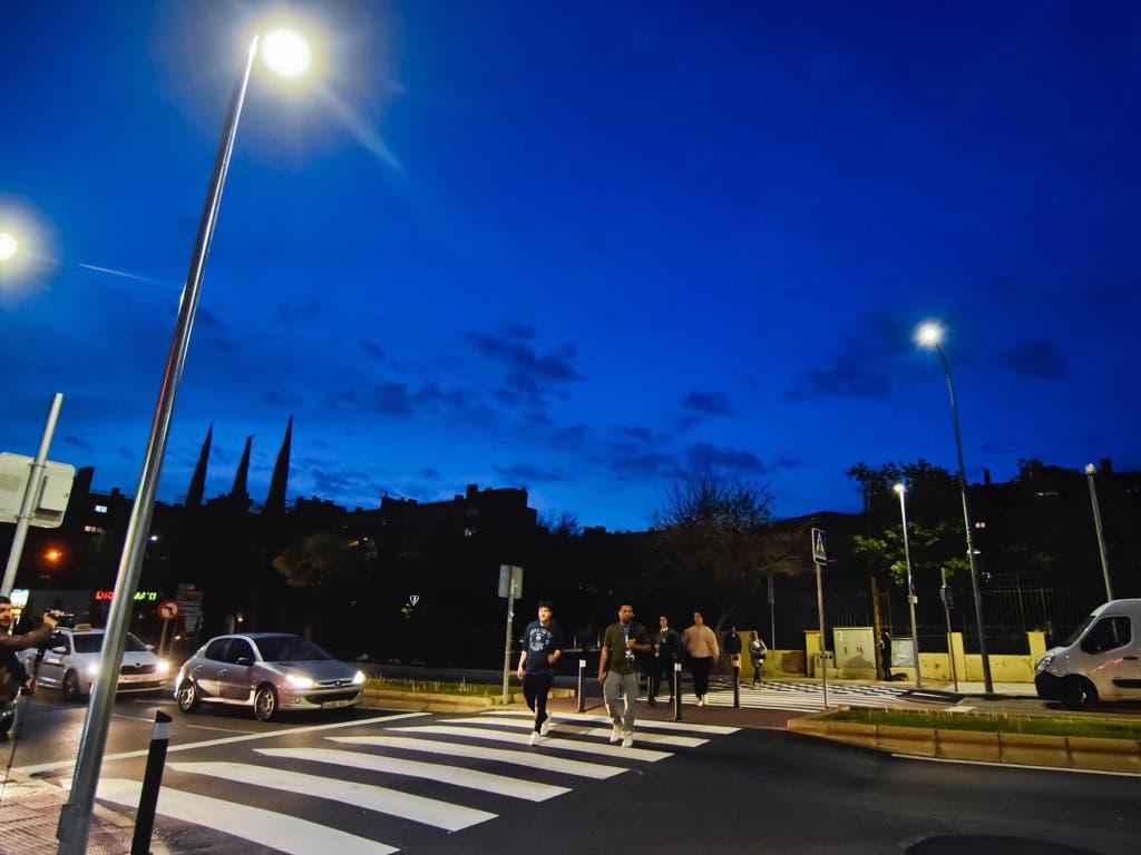 Torrejón ilumina los pasos de peatones para mejorar la seguridad vial