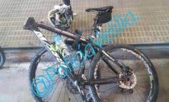 Heridos dos ciclistas tras chocar de frente en un camino rural de Rivas