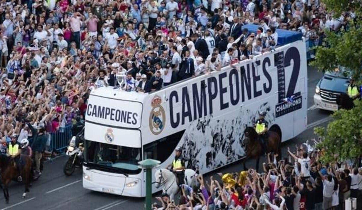 Así será la celebración del Real Madrid por la capital tras ganar la Champions