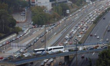 La tormenta provoca más de 100 kilómetros de retenciones en Madrid