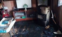Dos heridos tras un incendio en una vivienda de Tierzo (Guadalajara)