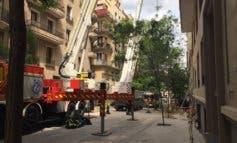 Sin rastro aún de los obreros atrapados en el derrumbe de Chamberí