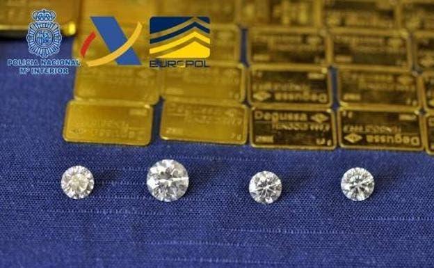 Ocho detenidos en Madrid por blanqueo con diamantes valorados en 2,6 millones de euros