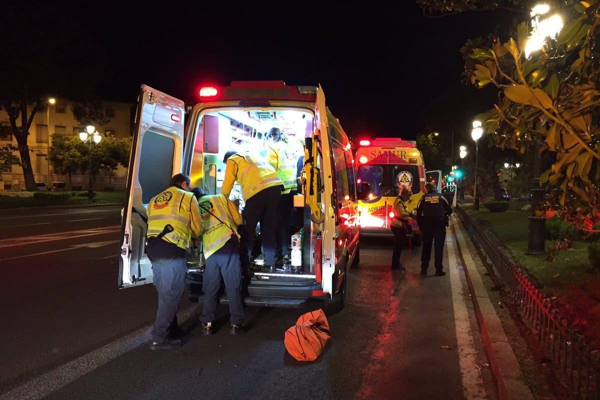 Herido grave un motorista de 29 años tras sufrir un accidente en Madrid