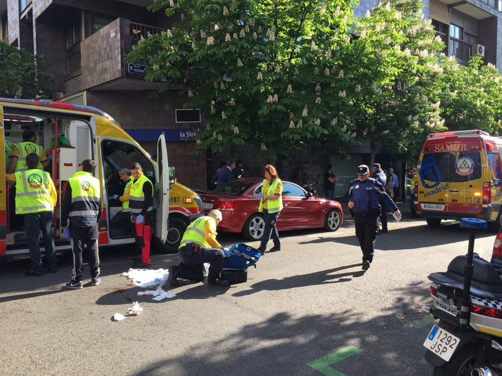 Herido muy grave un hombre tras ser atropellado en Madrid