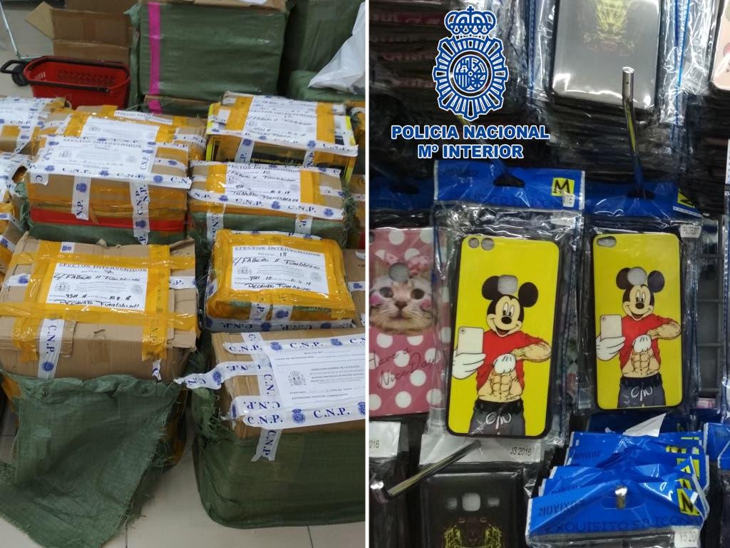 La Policía interviene 12.000 artículos falsificados en Cobo Calleja