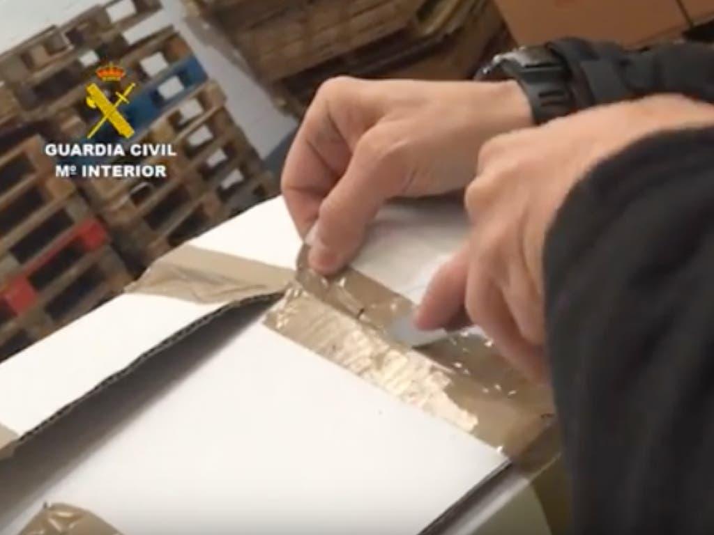La Guardia Civil interviene más de dos toneladas de droga en un almacén de Coslada