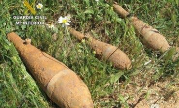 Un vecino de Guadalajara encuentra tres granadas de mortero de la Guerra Civil
