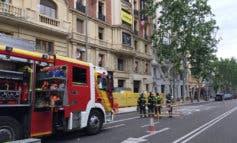 Posibles atrapados tras el derrumbe de un edificio en obras en Madrid