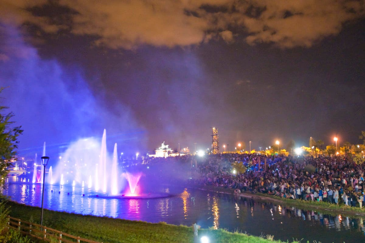 Música en vivo y Fuente Cibernética en el Parque Europa de Torrejón