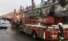 Rescatan a una anciana atrapada en un incendio en San Fernando