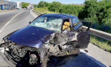 Un herido tras un aparatoso accidente en Arganda del Rey