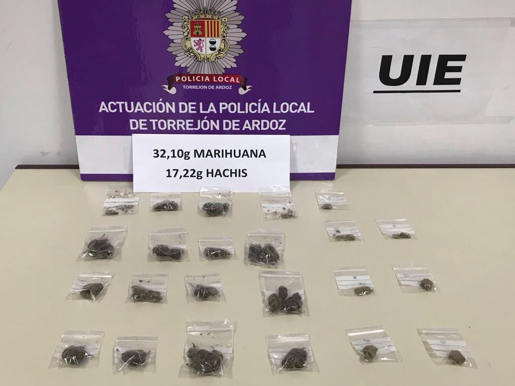 Detenido por trapichear con drogas en el Parque Cataluña de Torrejón