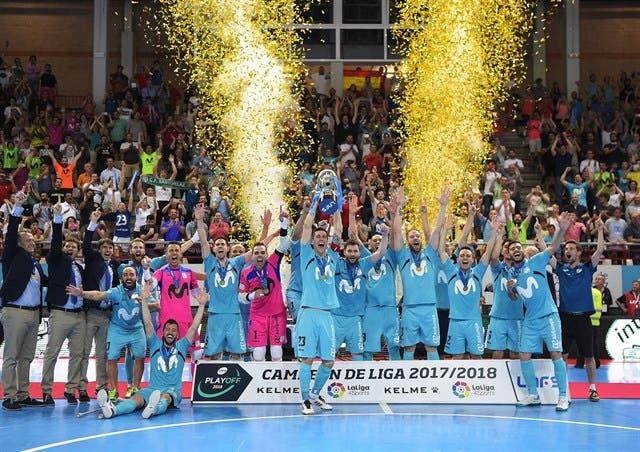 El Movistar Inter ganasu decimotercer título de Liga, el quinto consecutivo