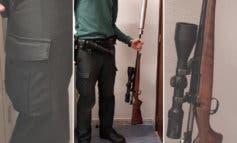 Detenidos en Guadalajara tras arrojar un rifle por la ventanilla de una furgoneta