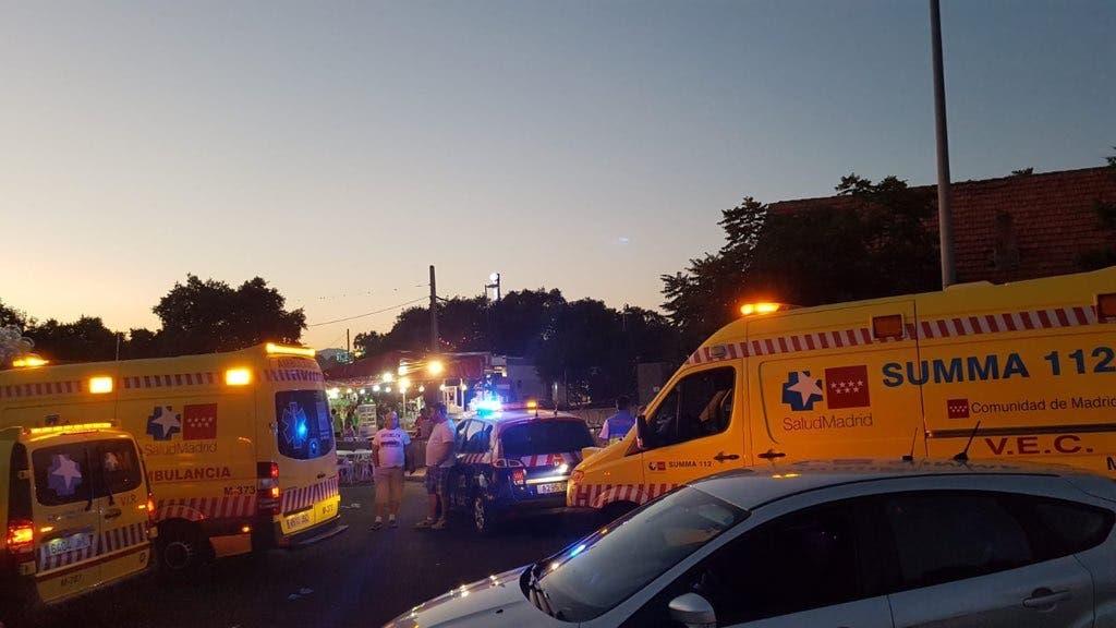 Herido grave un niño de 5 años en un atropello múltiple en las fiestas de Colmenarejo