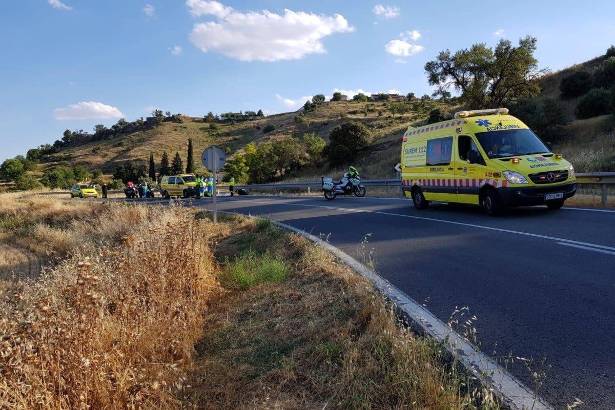 Fallece un motorista de 42 años en un accidente en la M-204