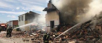 Un incendio en la Cañada Real destruye una vivienda, dos naves y una chabola