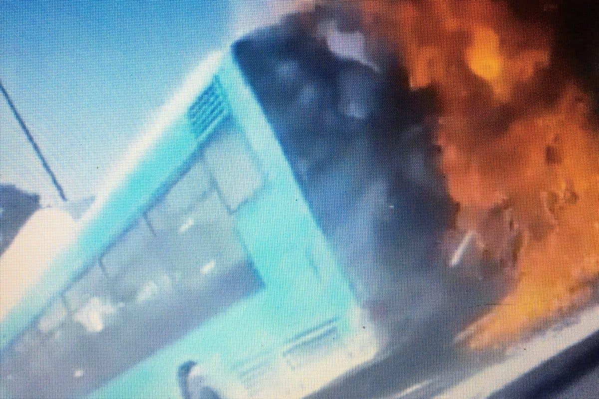 Arde un autobús de la EMT en la Alameda de Osuna