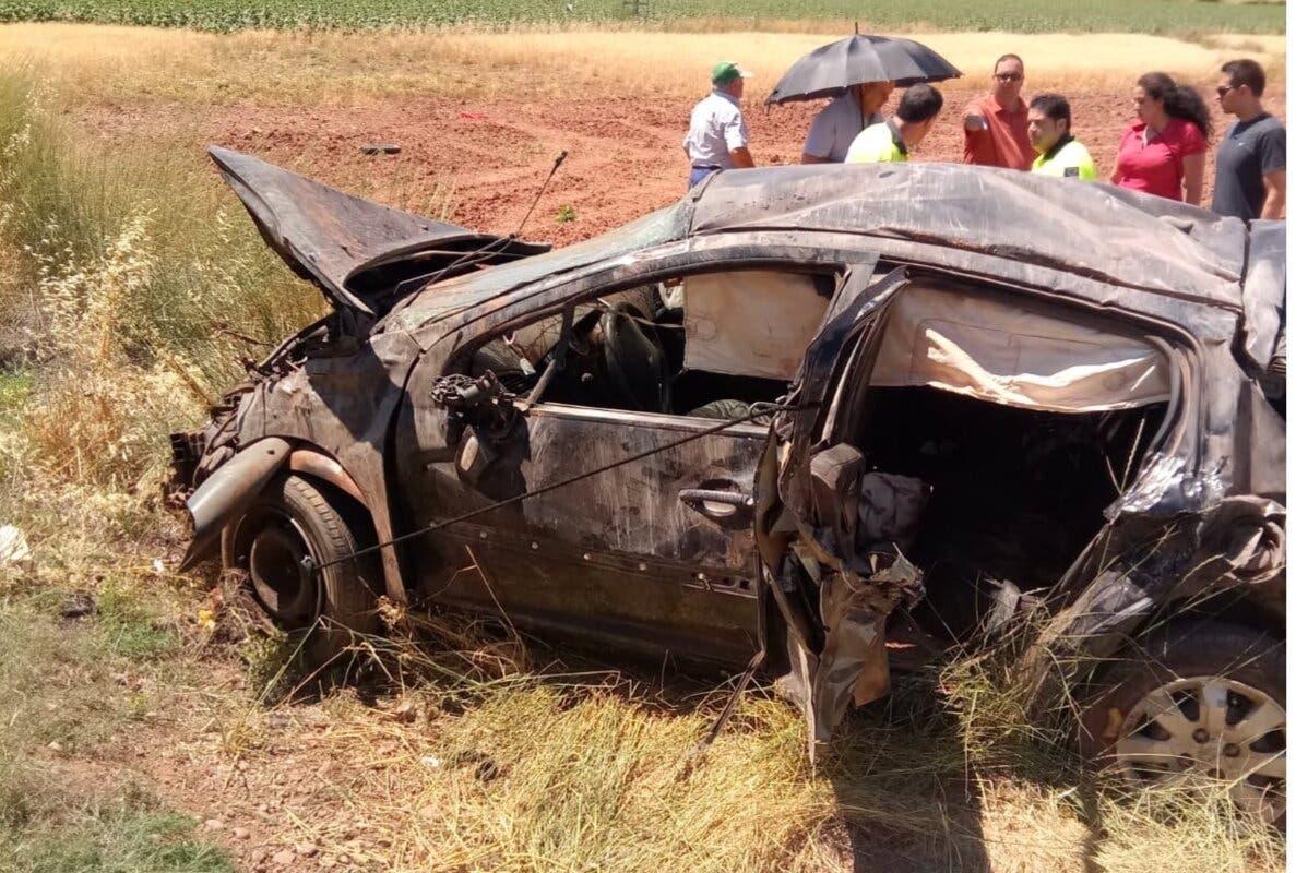 Cinco heridos, dos de ellos graves, en un accidente de tráfico en Guadalajara