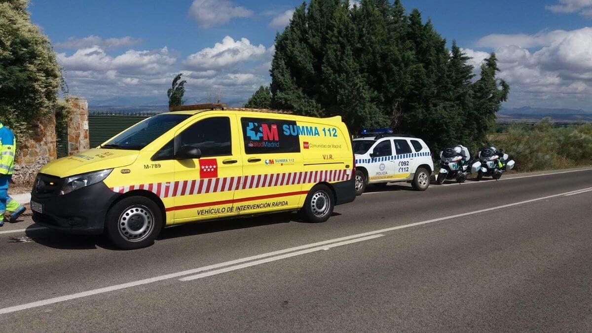 Muere un ciclista atropellado por una furgoneta en Algete