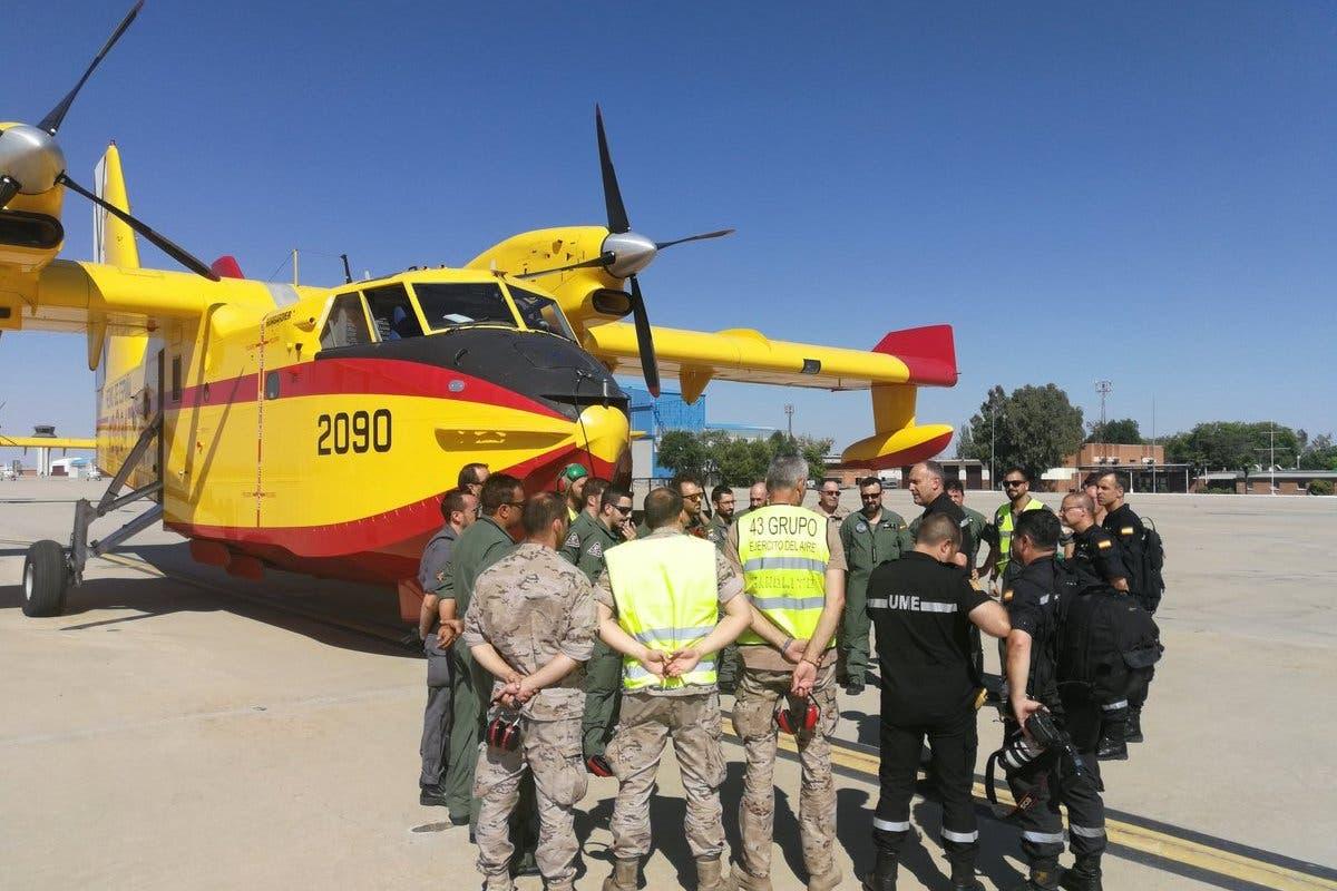 Parten de Torrejón dos aviones para ayudar en los incendios de Grecia