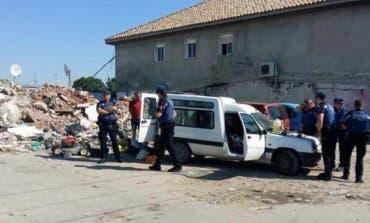Detenido en la Cañada Real con armas y objetos robados en una furgoneta