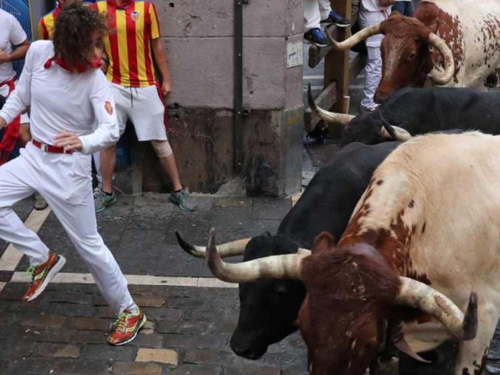 Herido un joven de San Fernando de Henares en el sexto encierro de San Fermín