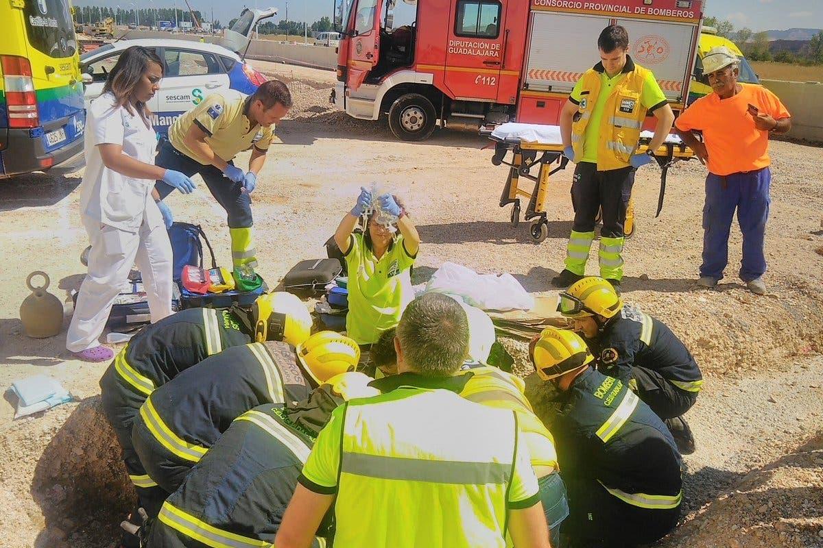 Grave accidente laboral en Marchamalo (Guadalajara)