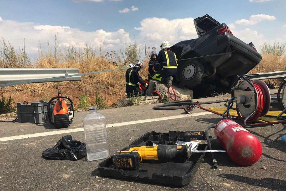 Muere un conductor en un accidente de tráfico en Paracuellos de Jarama