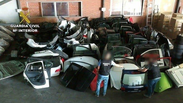 Detenida una banda que robaba y despiezaba vehículos en Madrid