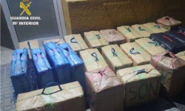 Interceptan un vehículo robado en Rivas que llevaba 940 kilos de hachís