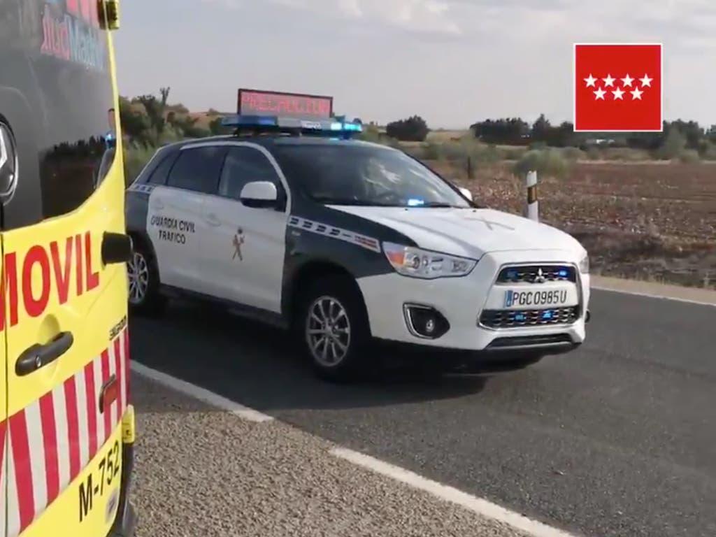 Muere un motorista en un accidente en Talamanca de Jarama