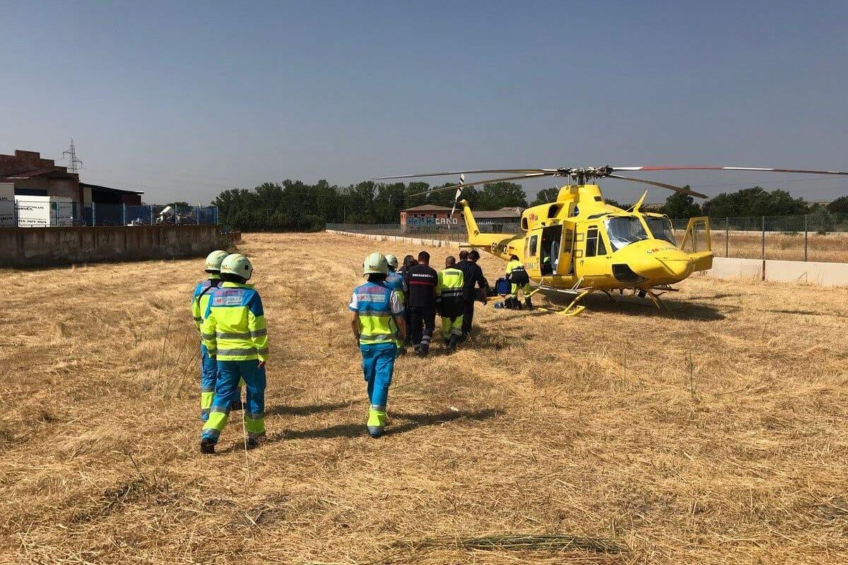 Grave accidente laboral en Paracuellos de Jarama