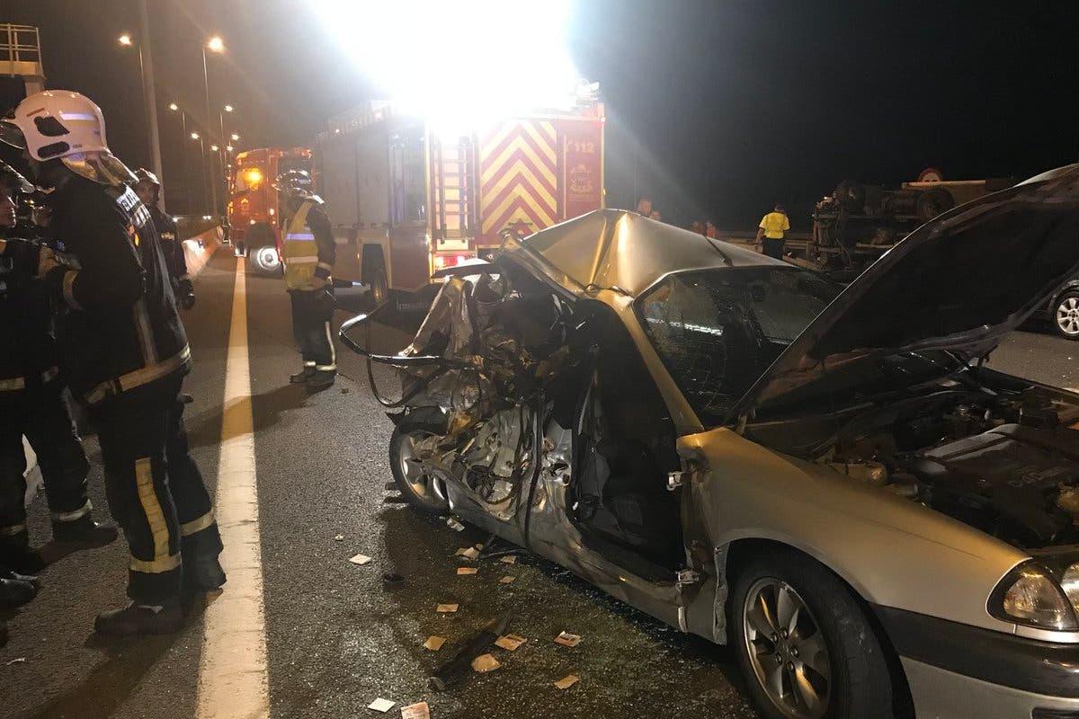 Tres heridos en un accidente múltiple en la A-2, Alcalá de Henares