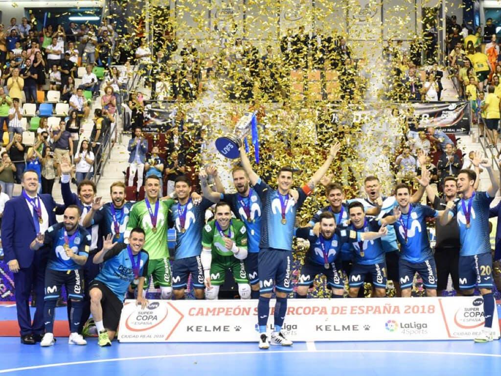 El Movistar Inter, campeón de la Supercopa tras ganar en los penaltis al Jaén