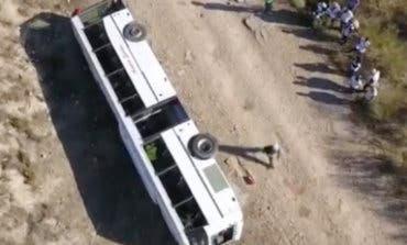 Resuelto el misterio del autobús volcado en Mejorada del Campo