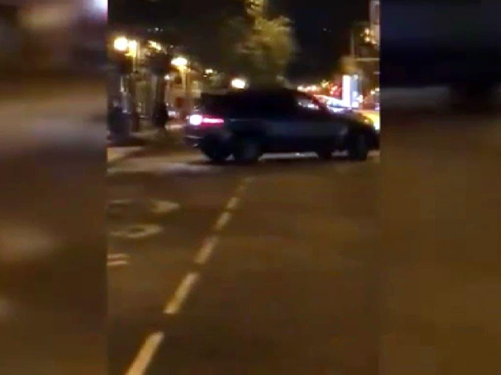 Un conductor encapuchado intenta atropellar a un hombre en Madrid